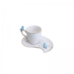 Xícara de Café Porcelana Cute Birds Design  Color Wolff 90ml Rojemac