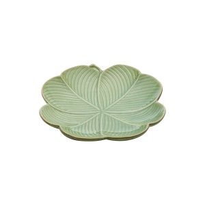 Folha Decorativa Banana Leaf 16cm Lyor