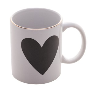 Caneca Porcelana Heart Color Big 350ml / Lyor